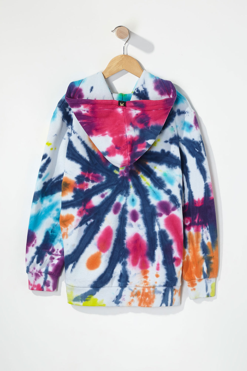 Zoo York Boys Box Logo Tie-Dye Hoodie Multi