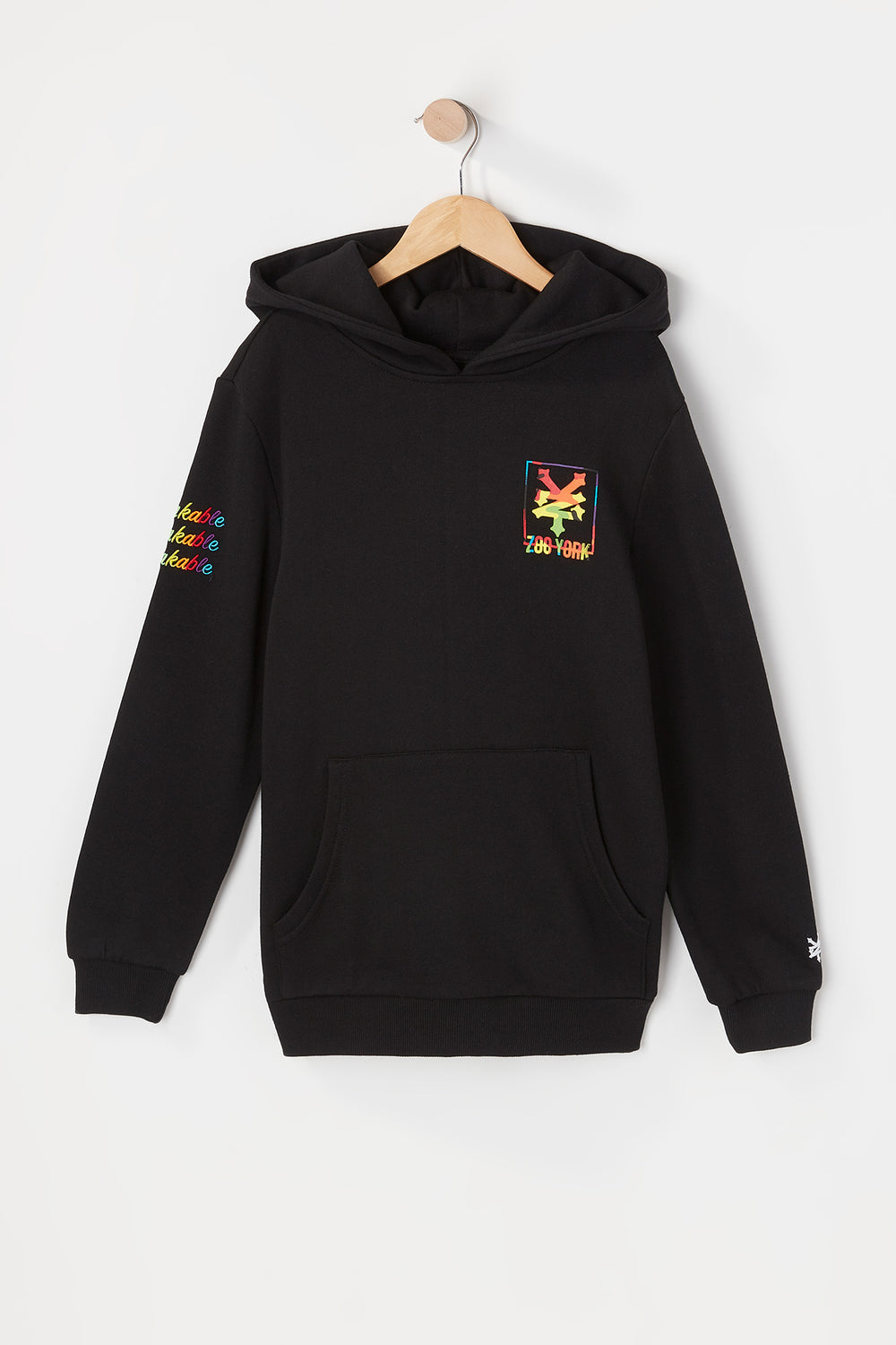 Zoo York Youth Rainbow Camo Box Fill Hoodie Black