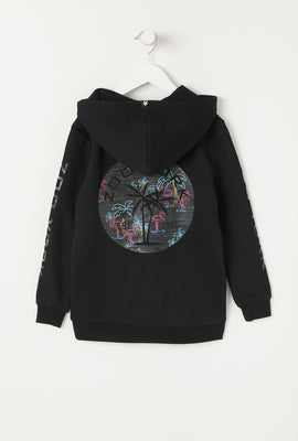 Zoo York Youth Neon Flamingo Fill Logo Hoodie