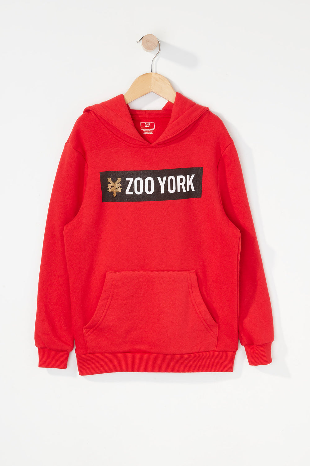 Zoo York Boys Box Logo Hoodie Red