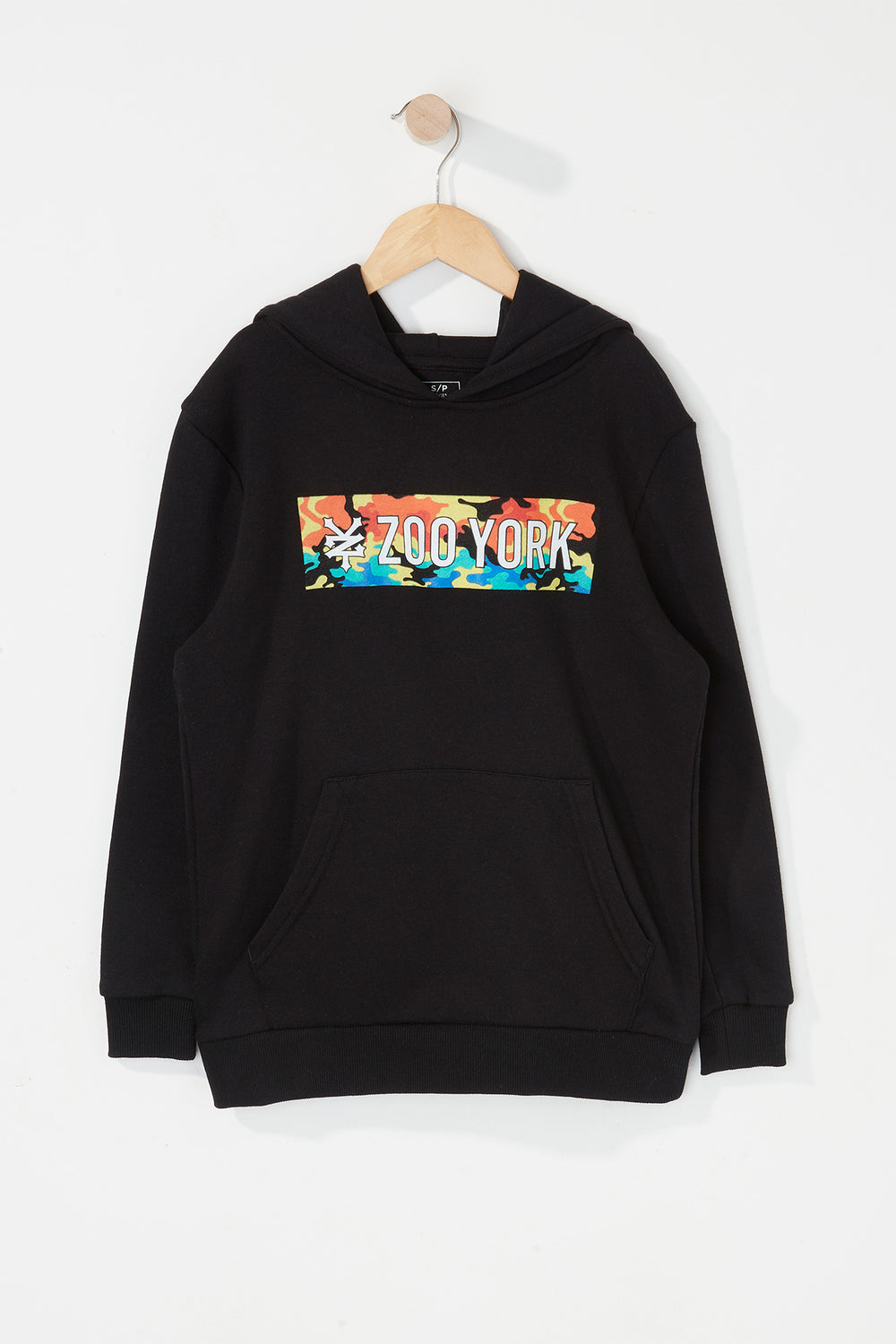 Zoo York Boys Rainbow Camo Box Logo Hoodie Black
