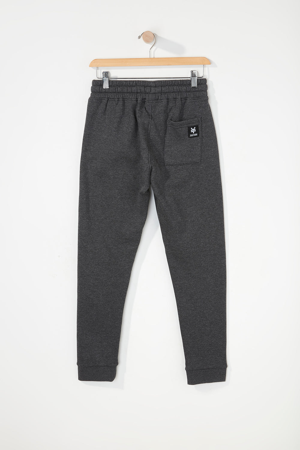 Zoo York Boys Embroidered Logo Jogger Charcoal