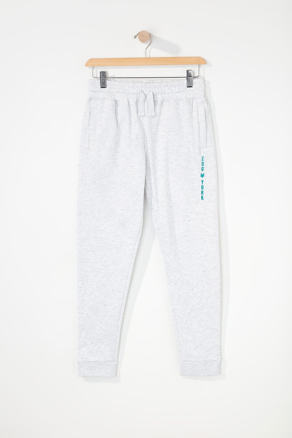 Zoo York Boys Embroidered Logo Jogger Oatmeal