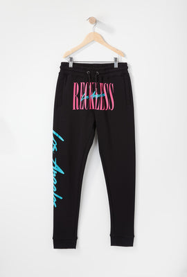 Young & Reckless Boys Retro Script Jogger