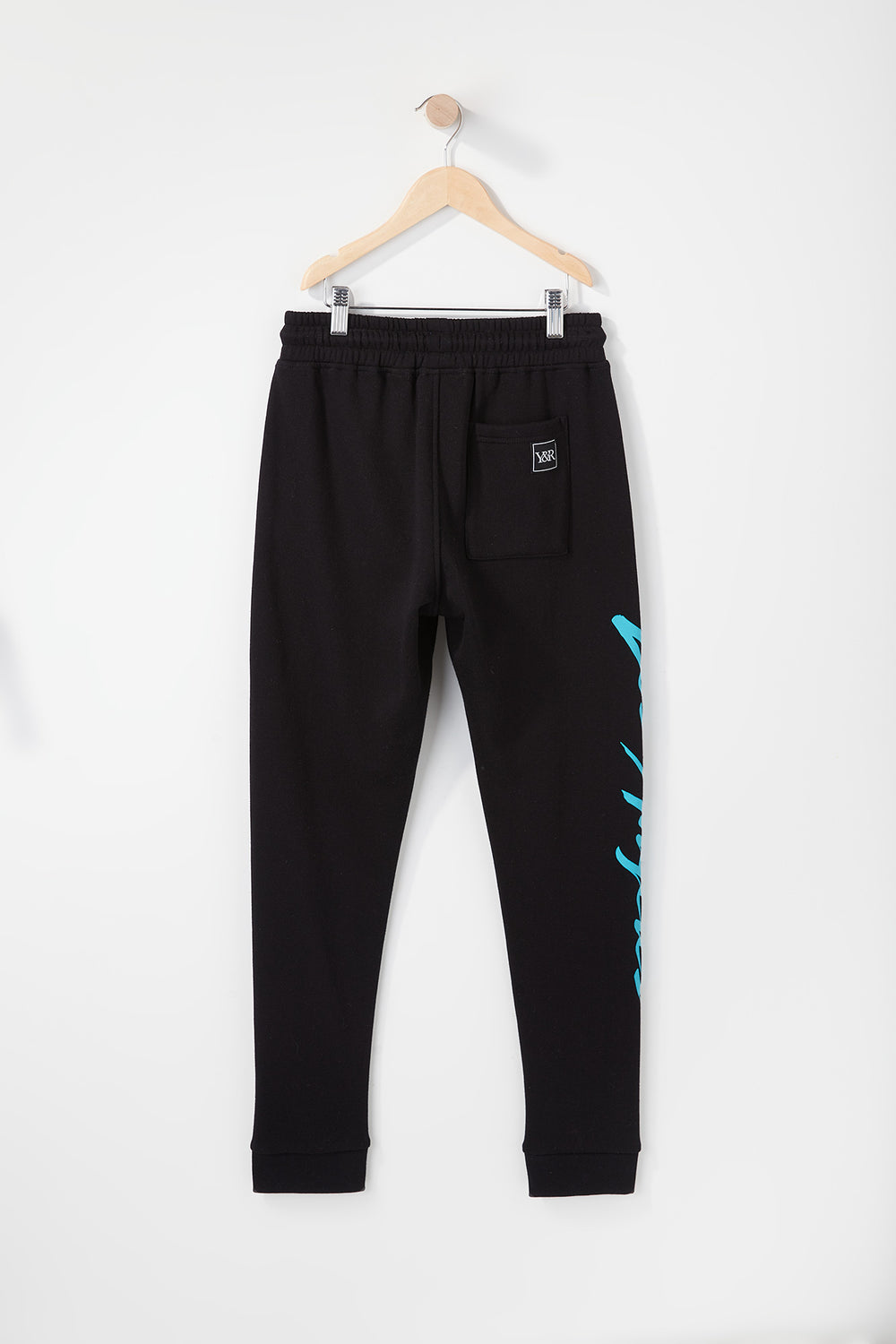 Young & Reckless Boys Retro Script Jogger Black