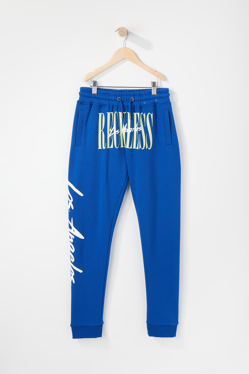 Jogger Logo Retro Young & Reckless Garçon Bleu