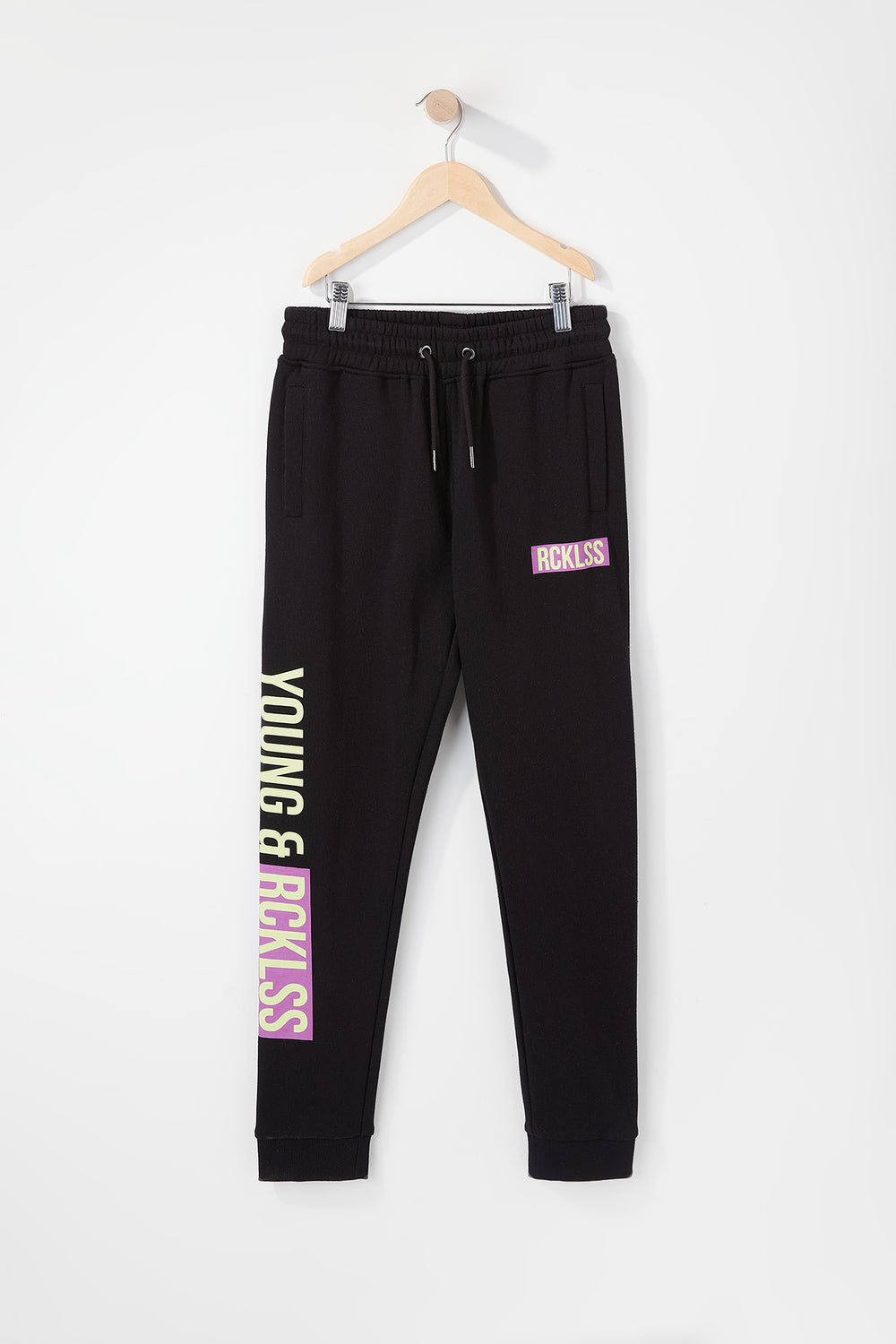 Young & Reckless Boys Neon Jogger Black