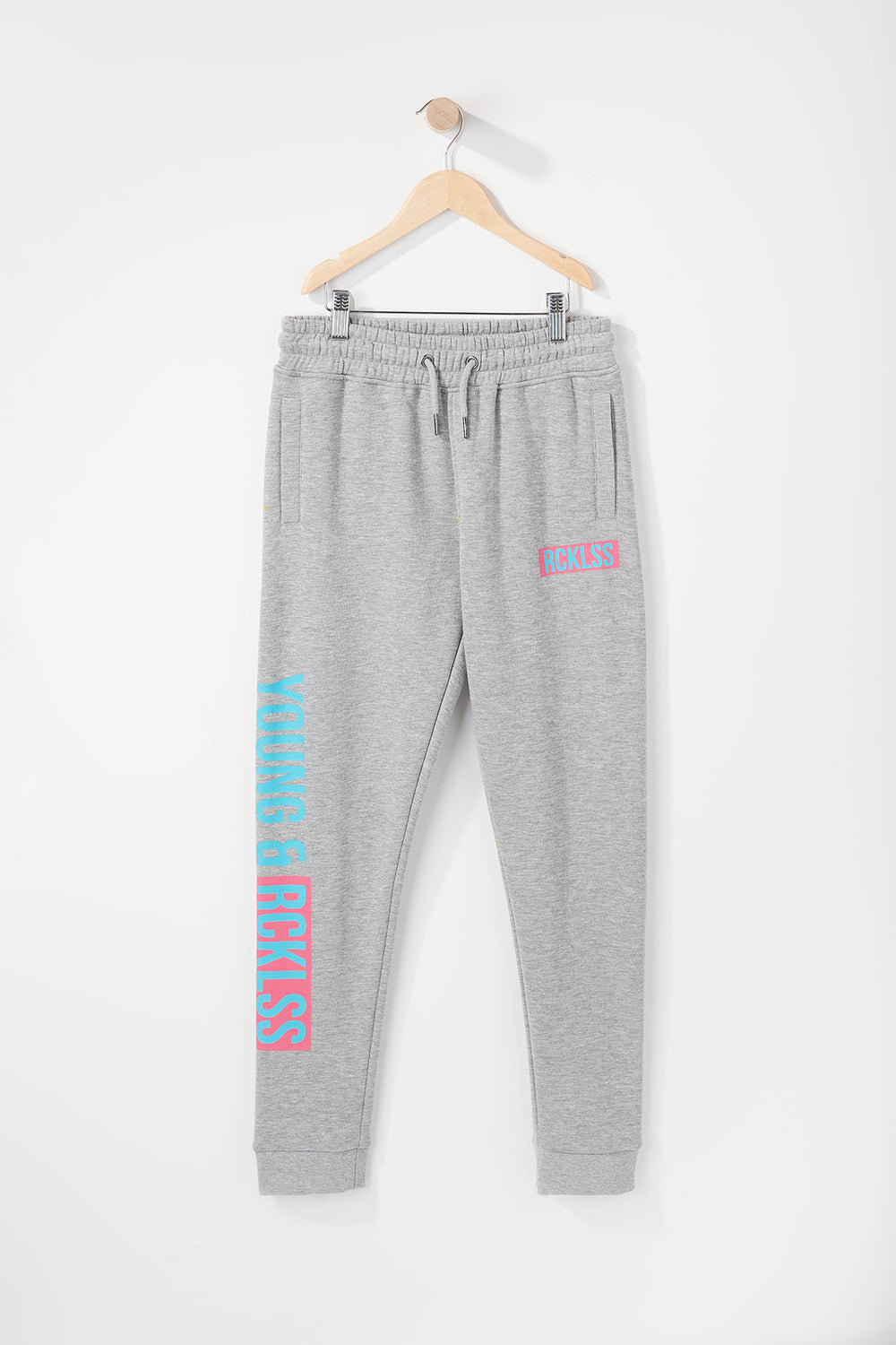 Jogger Logo Retro Young & Reckless Garçon Gris