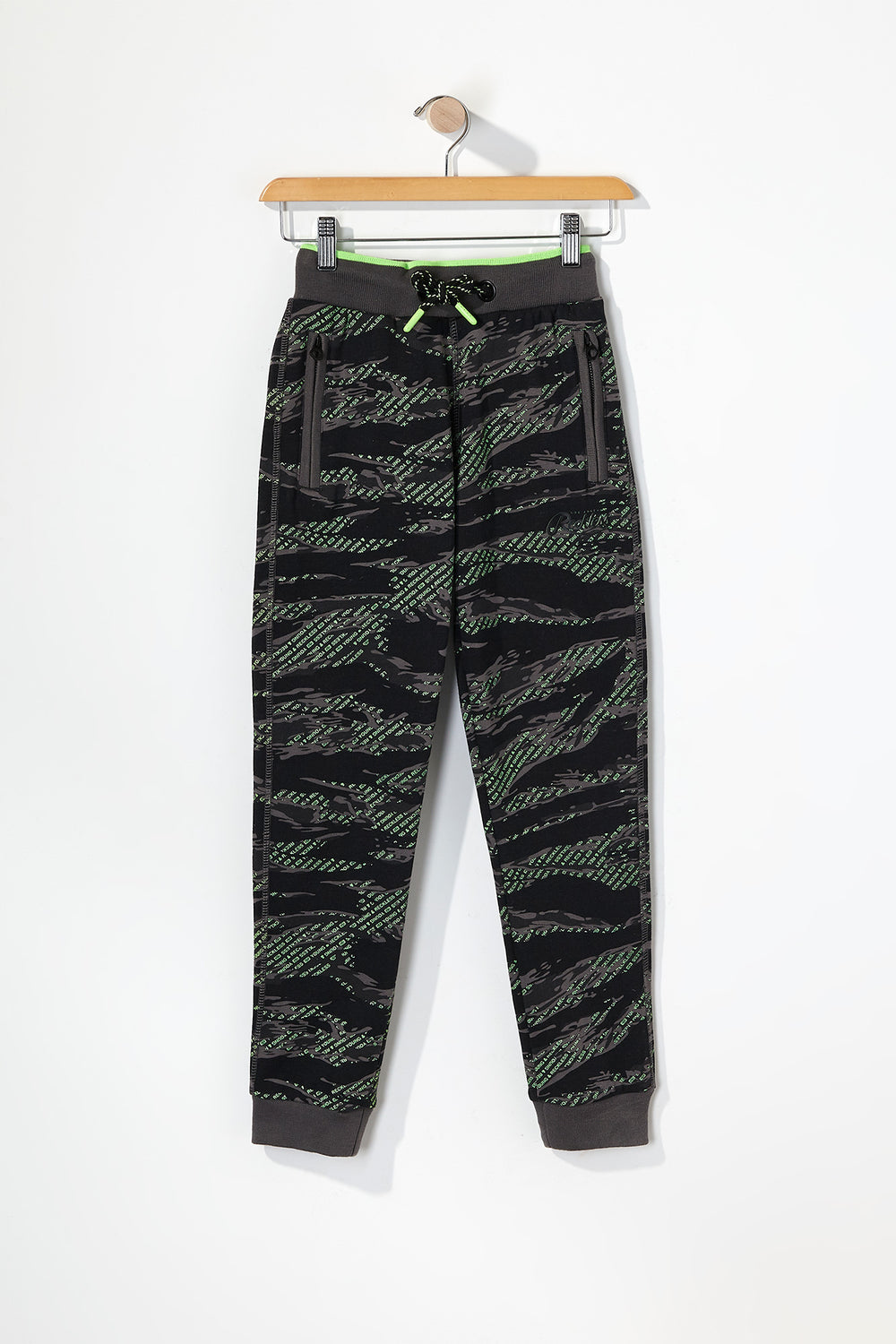 Young & Reckless Boys Tiger Camo And Neon Joggers Camouflage