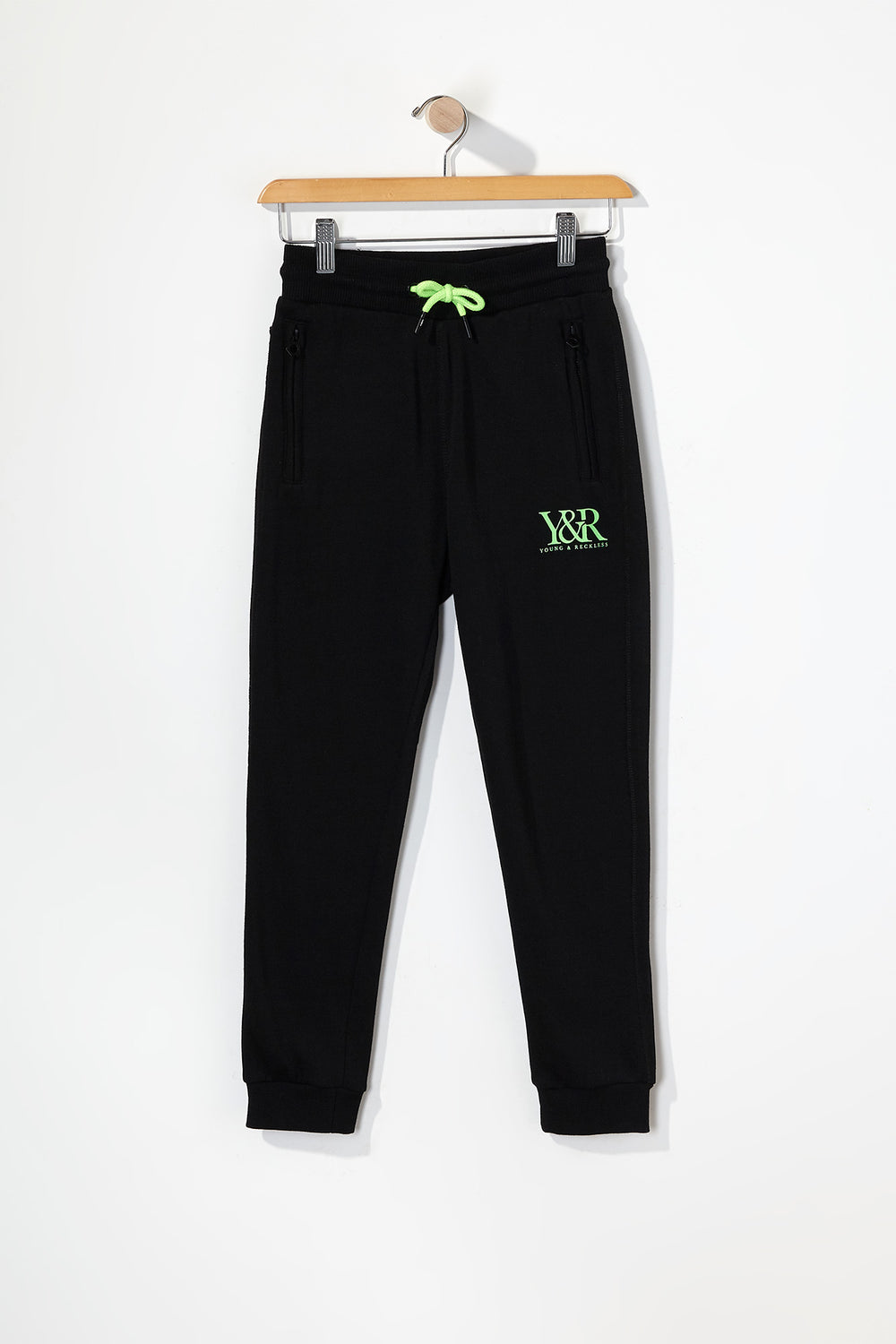 Young & Reckless Boys Neon Accent Joggers Black