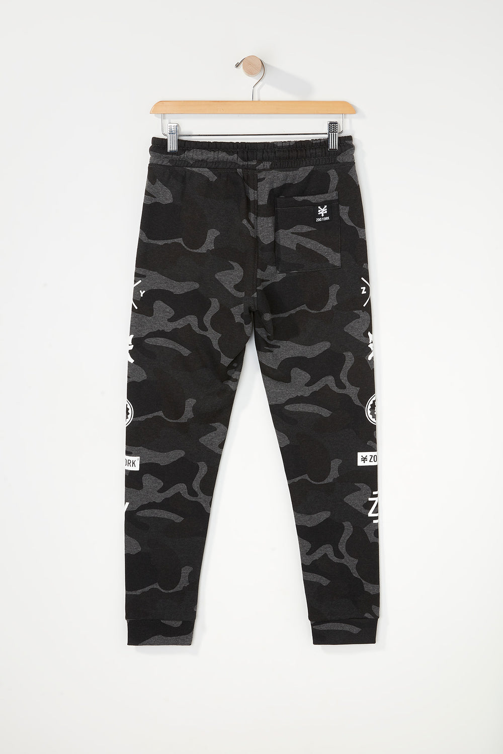 Zoo York Boys Camo Jogger Black with White