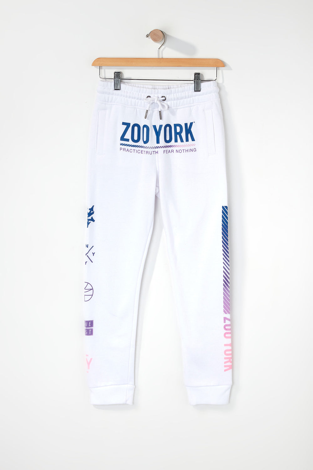 Zoo York Boys Gradient Logo Jogger White