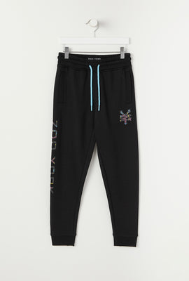 Zoo York Youth Neon Flamingo Fill Logo Jogger