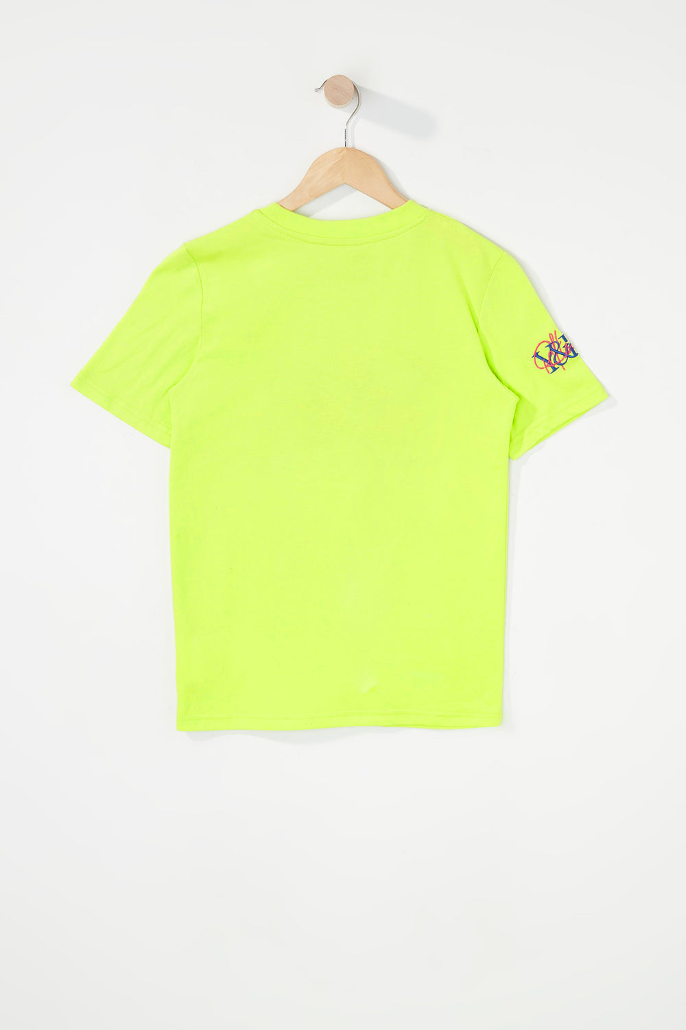 Young & Reckless Boys Embroidered Logo T-Shirt Neon Green