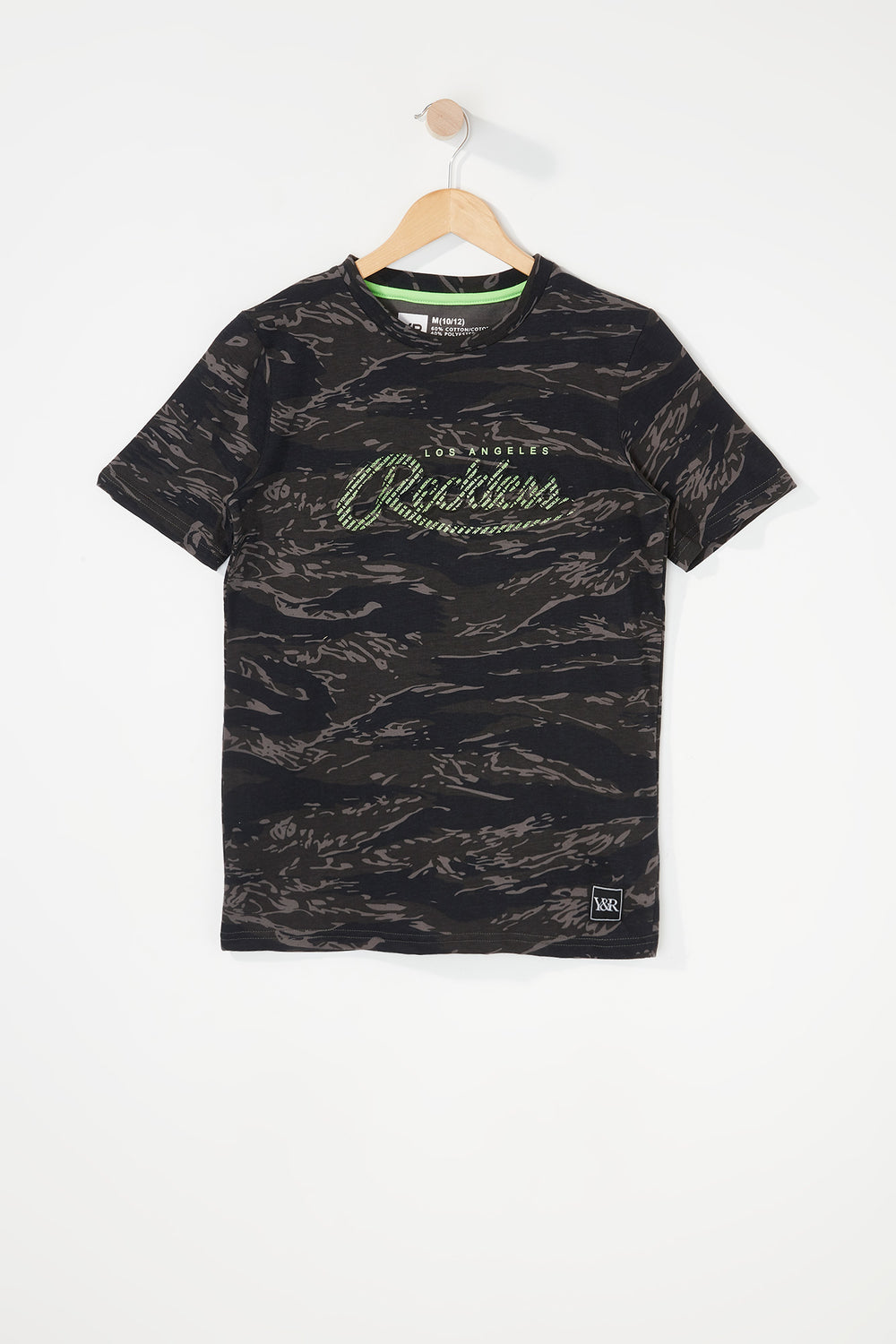 T-Shirt Camouflage Young & Reckless Garçon Noir