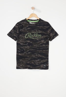 Young & Reckless Boys Camo T-Shirt