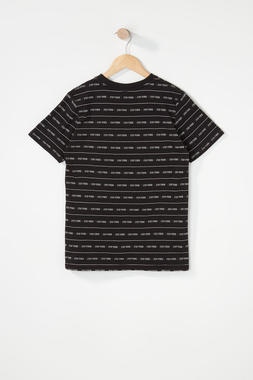 Zoo York Boys Jacquard Striped T-Shirt Black