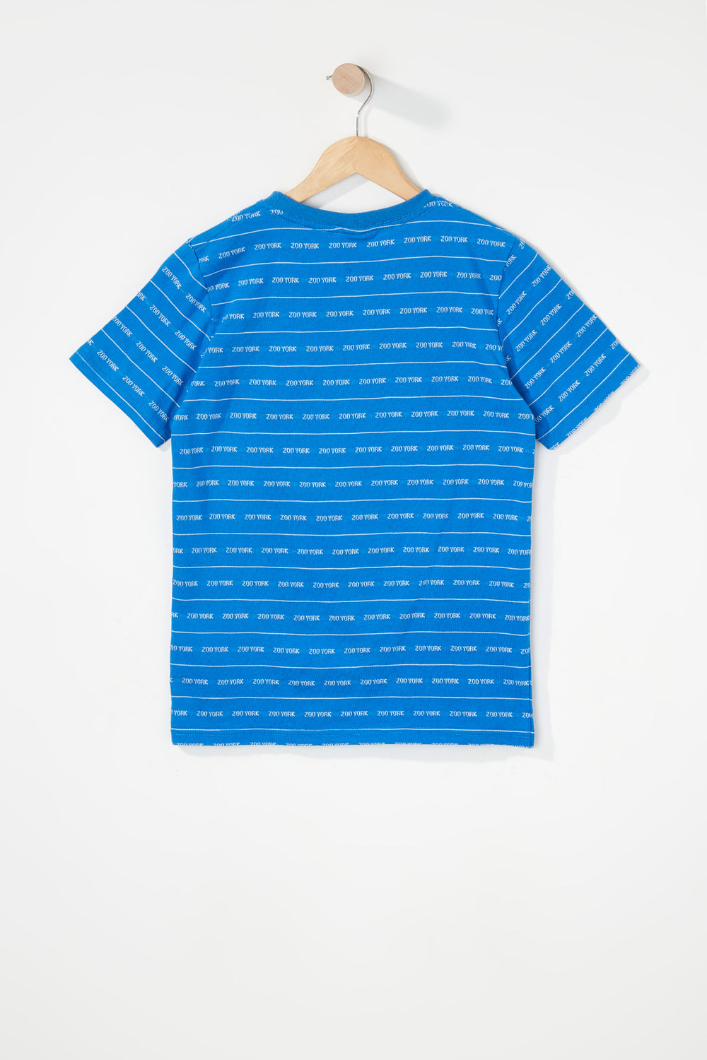 Zoo York Boys Jacquard Striped T-Shirt Blue