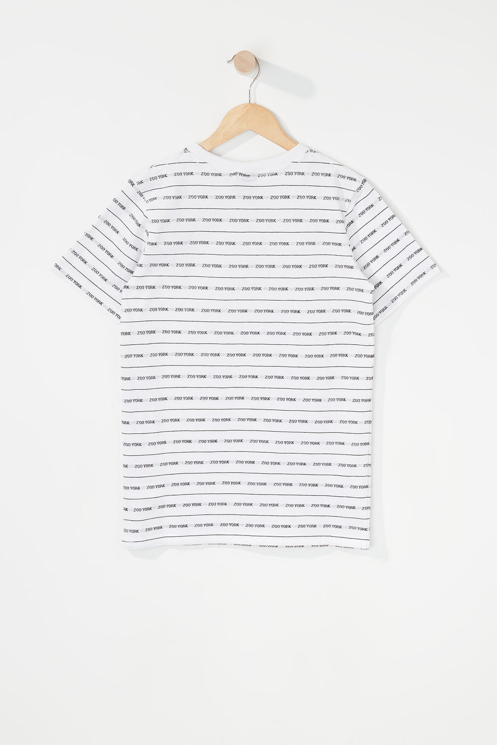 Zoo York Boys Jacquard Striped T-Shirt White