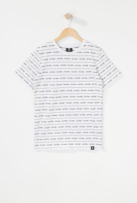 Zoo York Boys Jacquard Striped T-Shirt