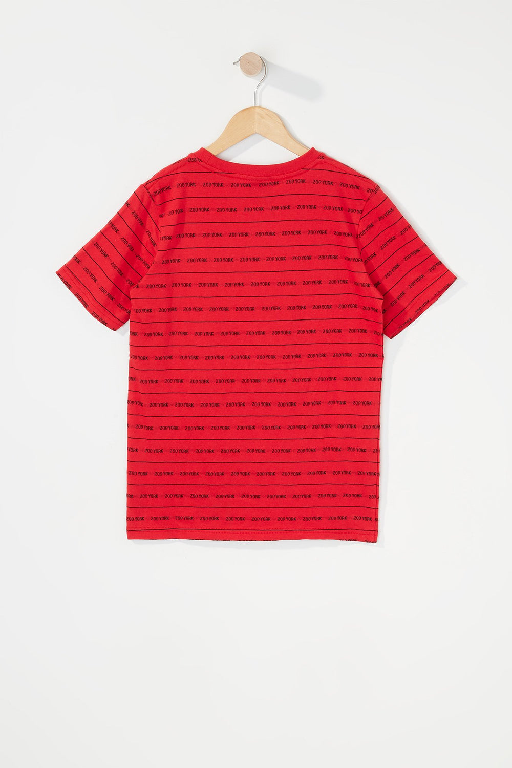 Zoo York Boys Jacquard Striped T-Shirt Red
