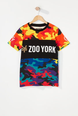 T-Shirt Camouflage Multicolore Zoo York Garçon