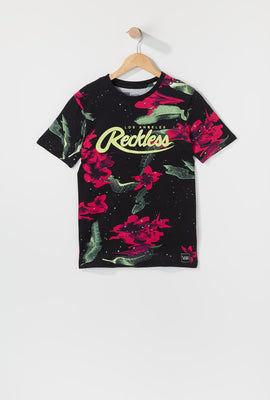 Young & Reckless Boys Electric Floral Graphic T-Shirt