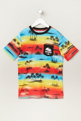 T-Shirt Imprimé Couché de Soleil West49 Junior