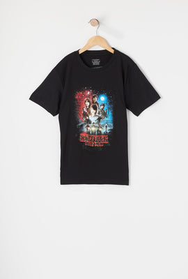 Boys Stranger Things Poster T-Shirt