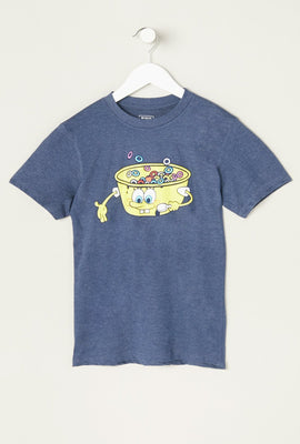 Youth SpongeBob Cereal Bowl T-Shirt