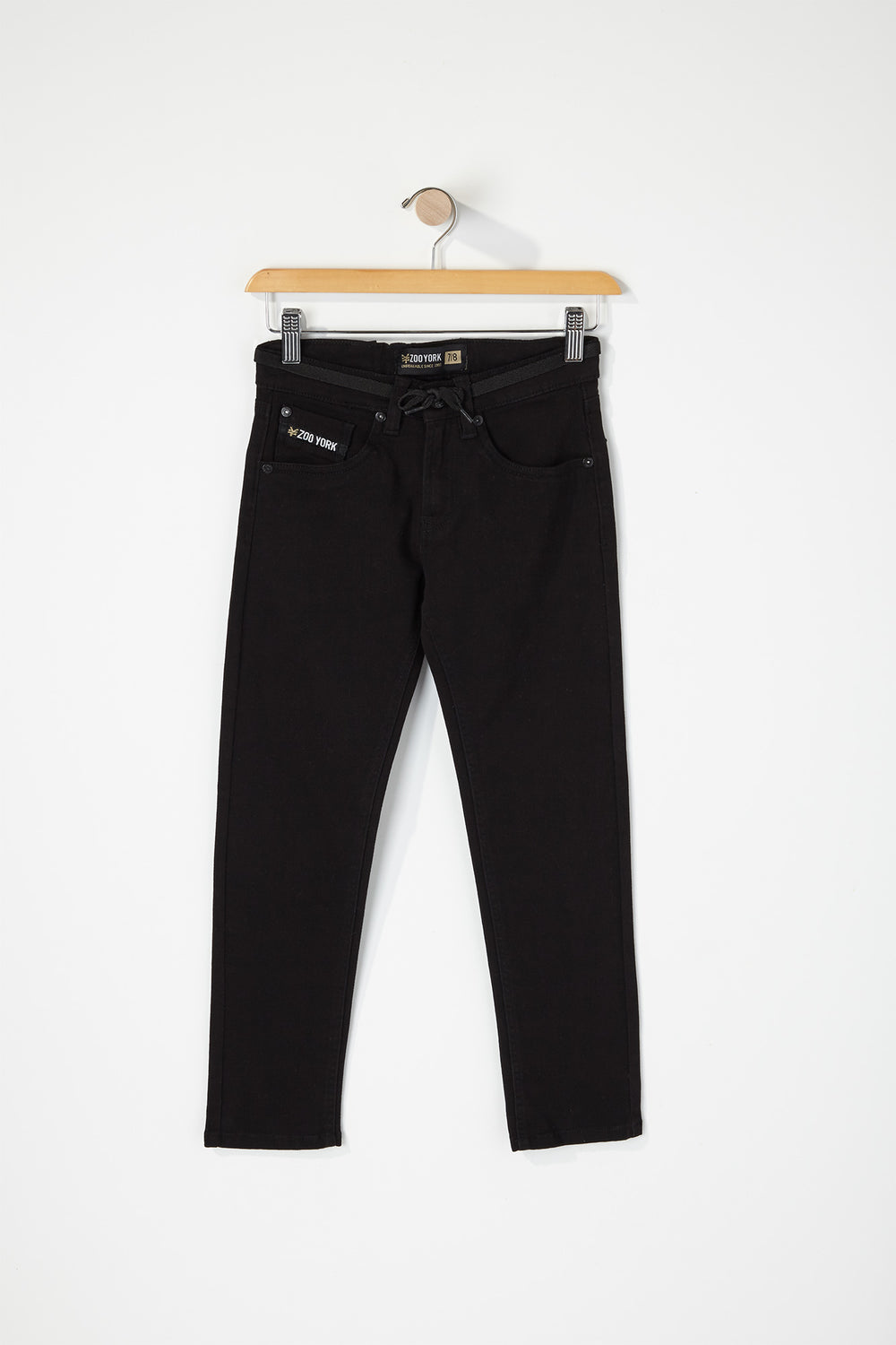 Zoo York Youth Stretch Skinny Jeans Black