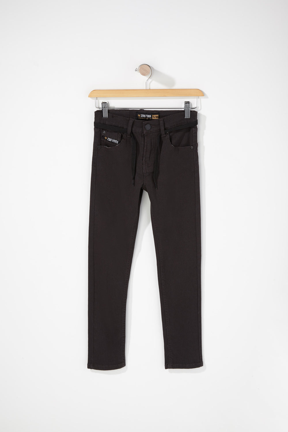 Zoo York Boys Stretch Skinny Jeans Dark Grey