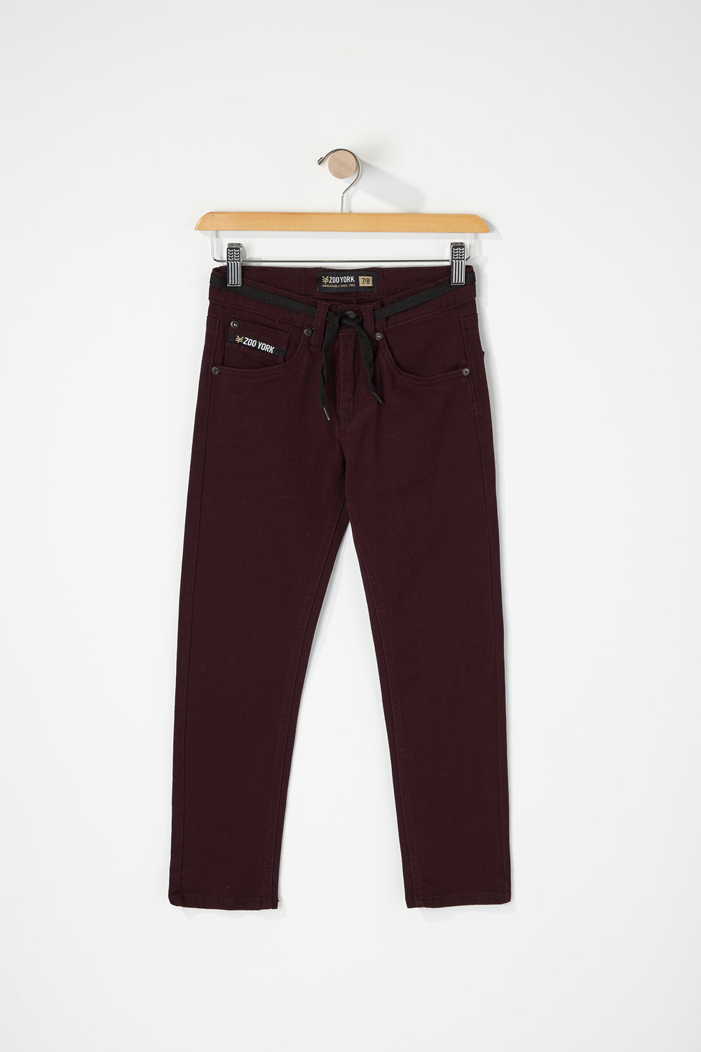 Zoo York Youth Stretch Skinny Jeans Burgundy