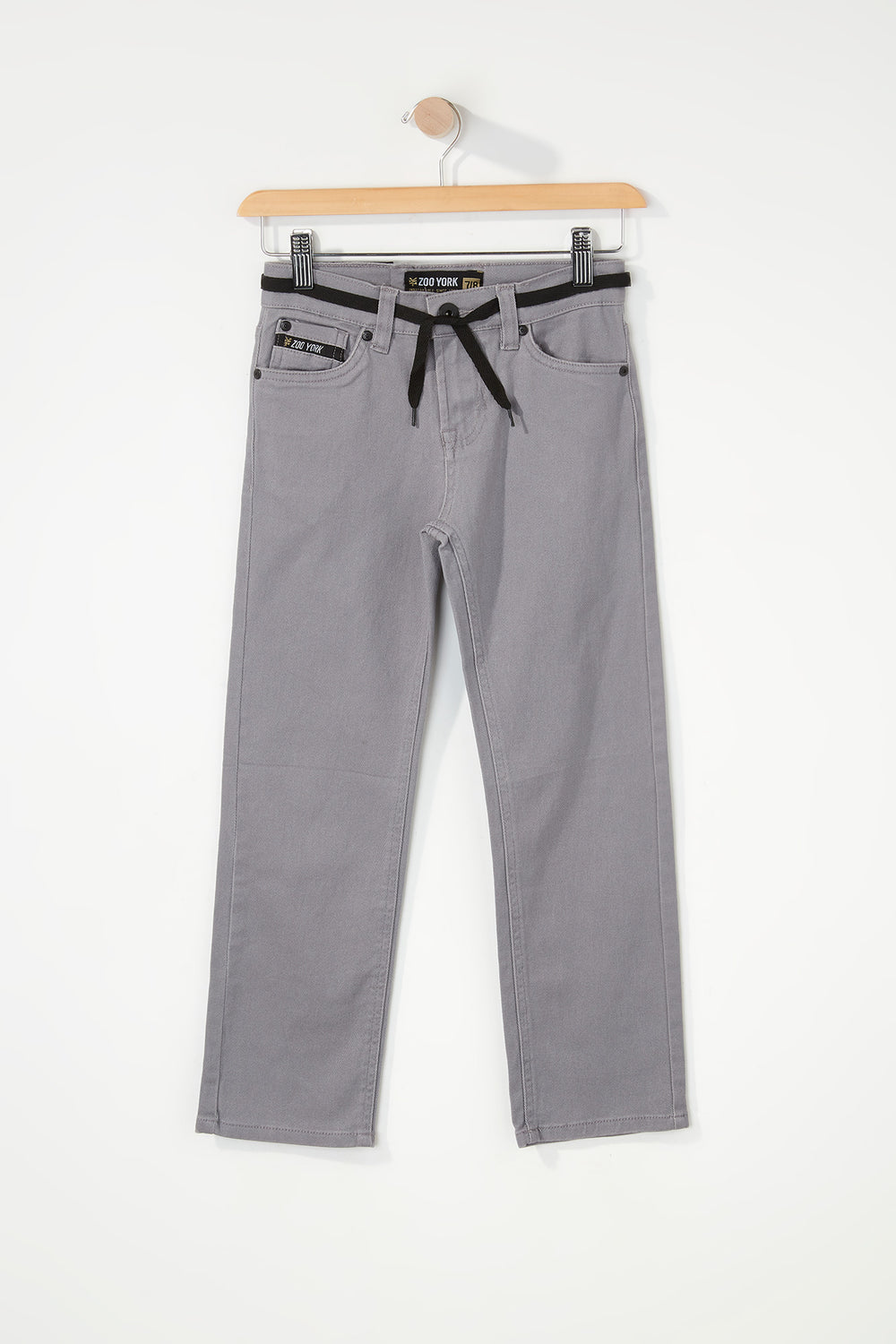 Zoo York Boys Stretch Slim Jeans Heather Grey