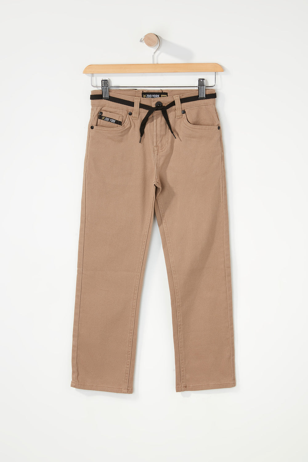 Zoo York Boys Stretch Slim Jeans Sand