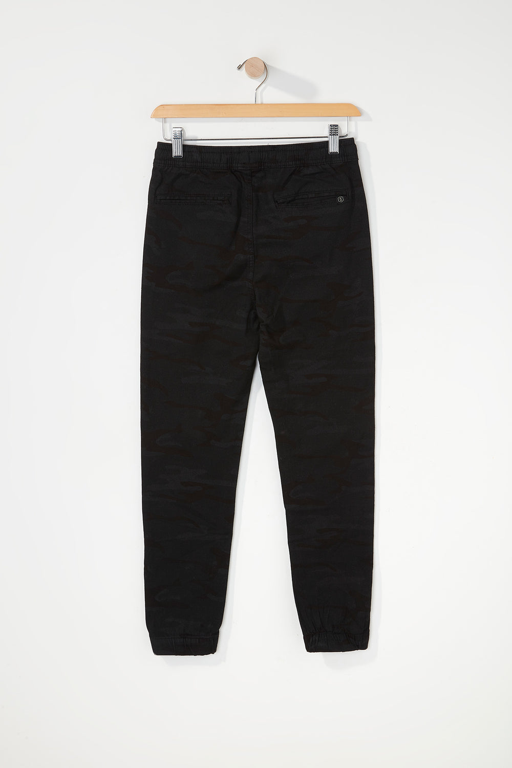 West49 Boys Camo Jogger Black with White