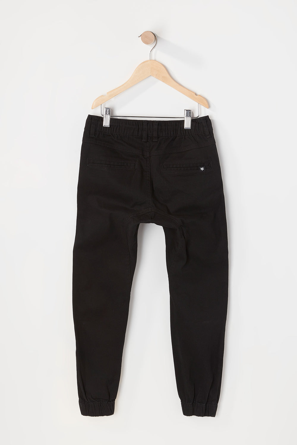 Zoo York Youth Solid Twill Zip Jogger Black