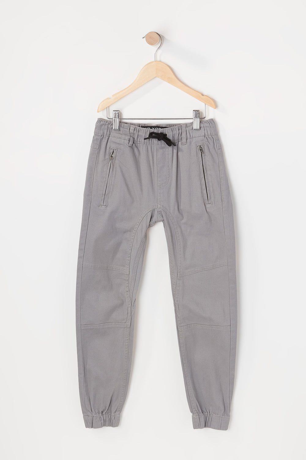 Zoo York Youth Solid Twill Zip Jogger Heather Grey