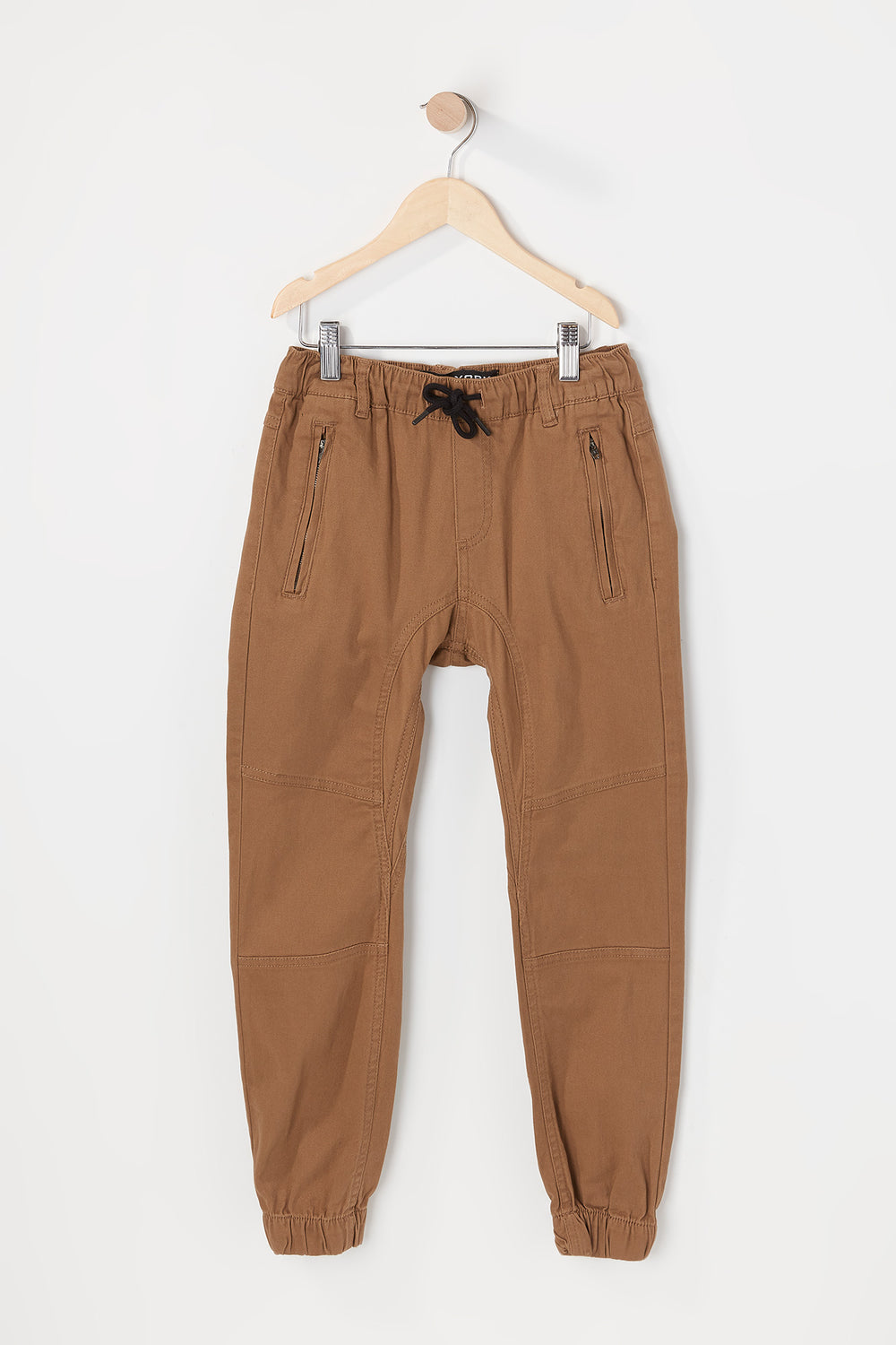Zoo York Youth Solid Twill Zip Jogger Camel