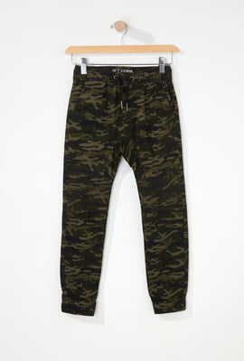 West49 Boys Camo Moto Jogger