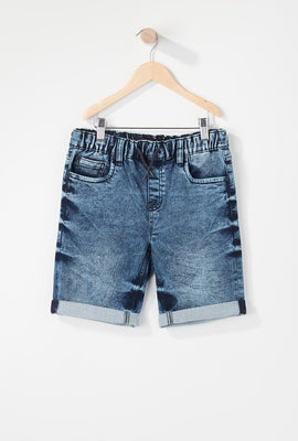 Zoo York Boys Knit Denim Jogger Short