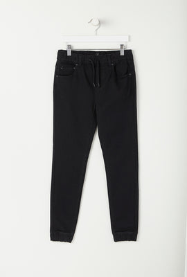 Jogger Junior en Denim Noir