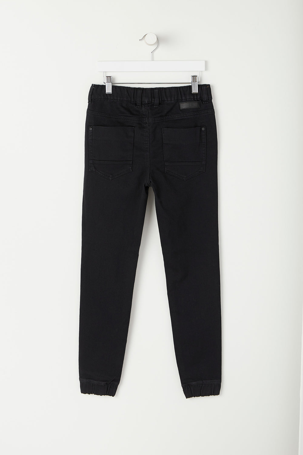 Youth Black Denim Jogger Black