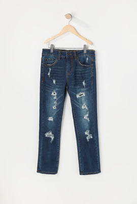 Zoo York Youth Distressed Dark Wash Skinny Jeans