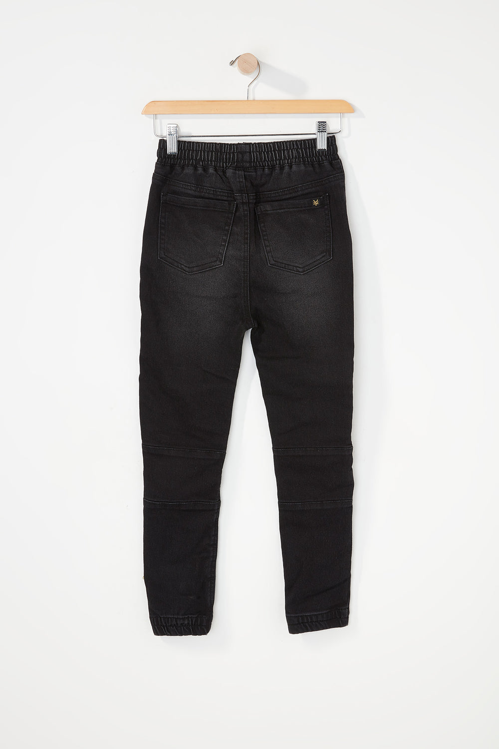 Zoo York Boys 5-Pocket Moto Acid Wash Jogger Jean Black
