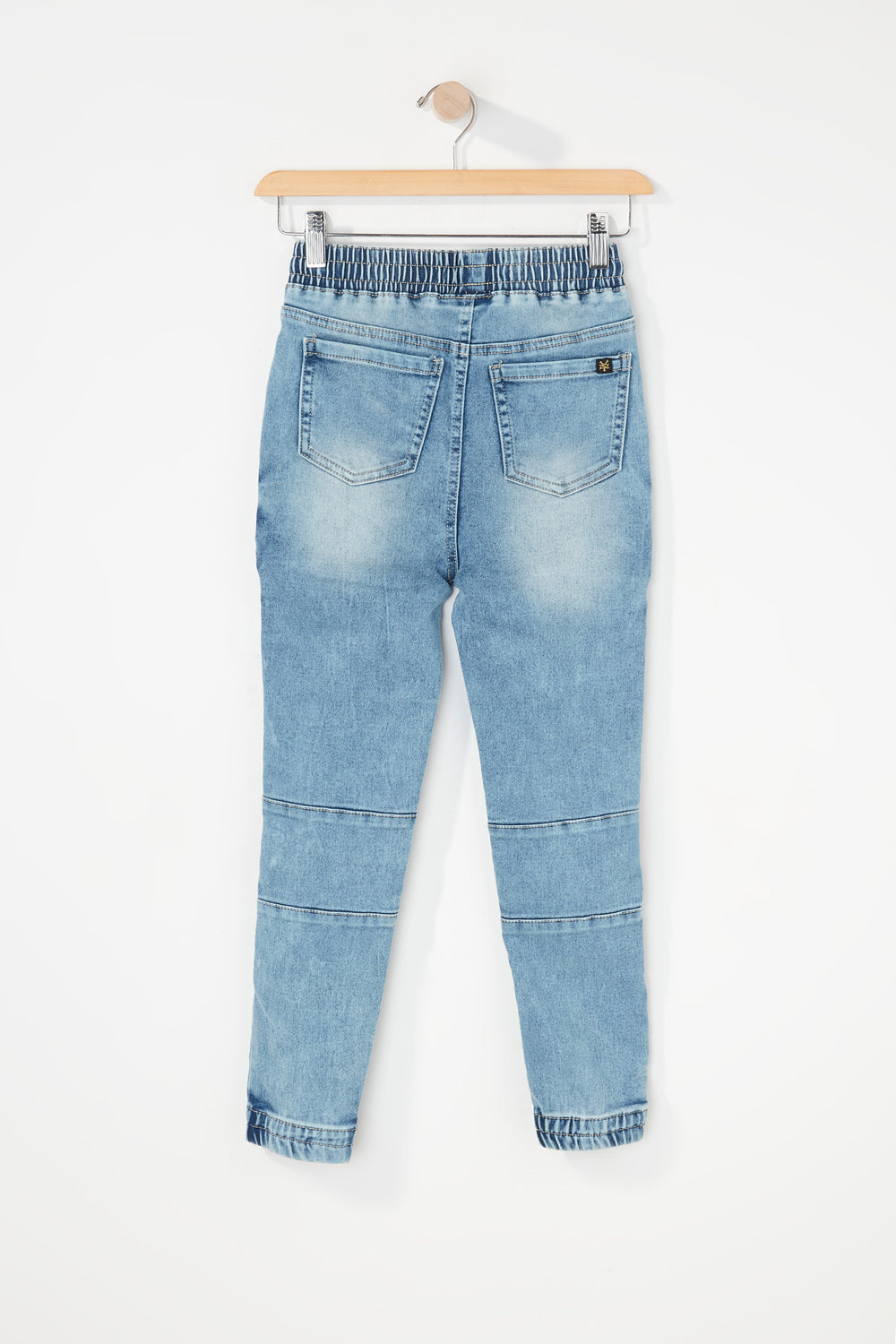 Zoo York Boys 5-Pocket Moto Acid Wash Jogger Jean Baby Blue