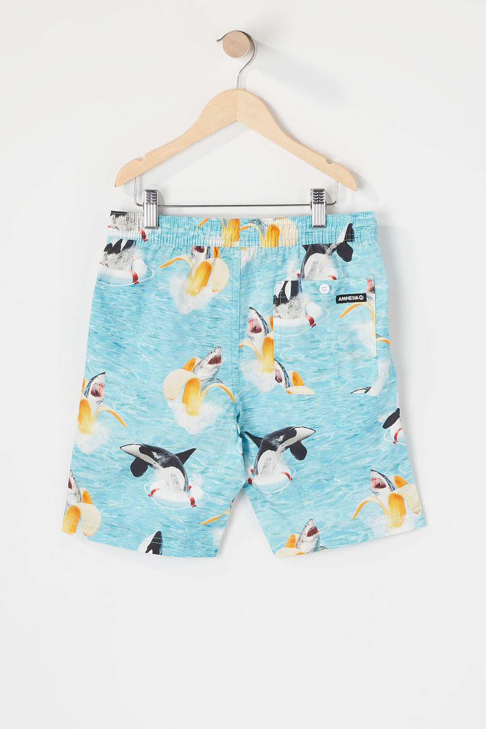 Short de Plage Requin Banane Amnesia Junior Bleu