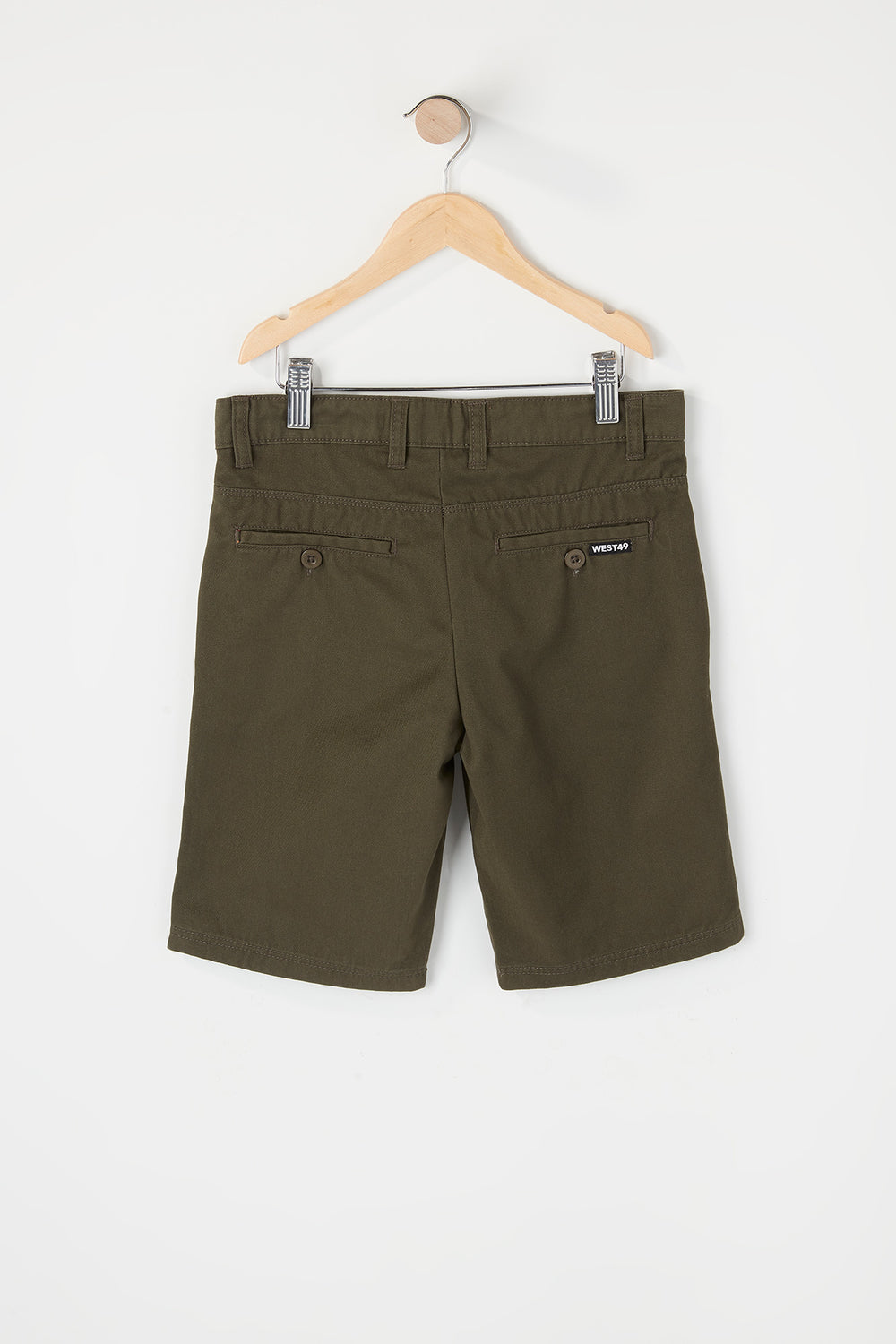 Short de Ville West49 Garçon Kaki
