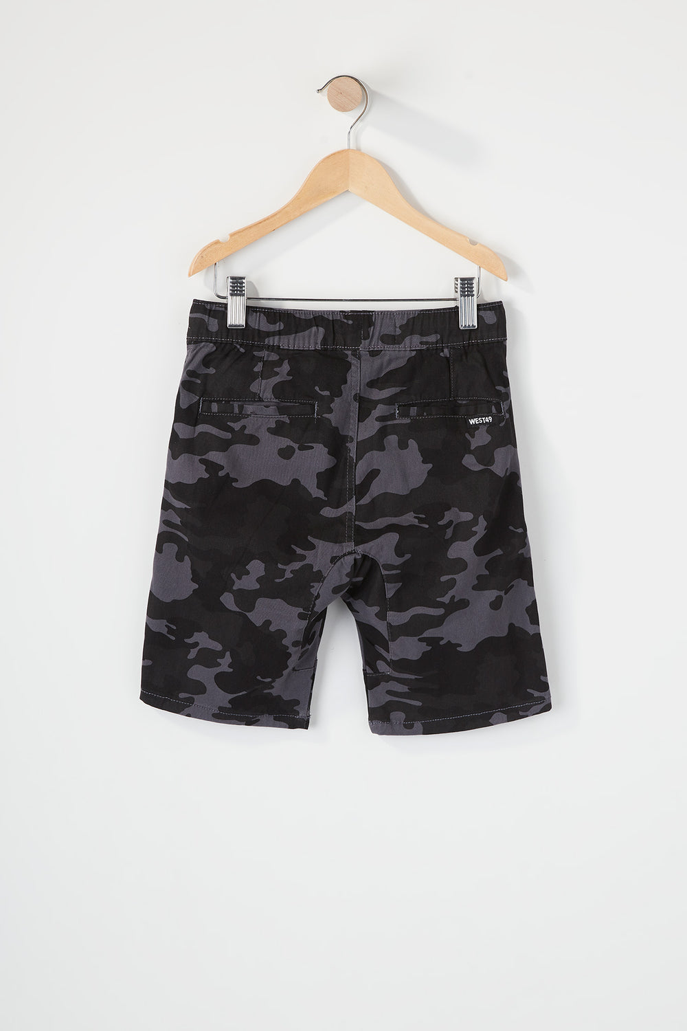 West49 Boys Camo Jogger Short Gingham