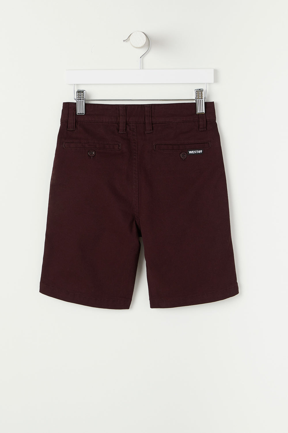 West49 Youth Twill Street Short Burgundy